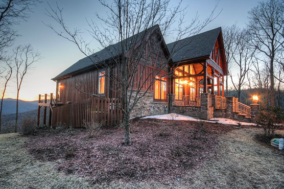 A large, luxury mountain vacation rental cabin near the Blue Ridge Parkway, hiking and family friendly activities.