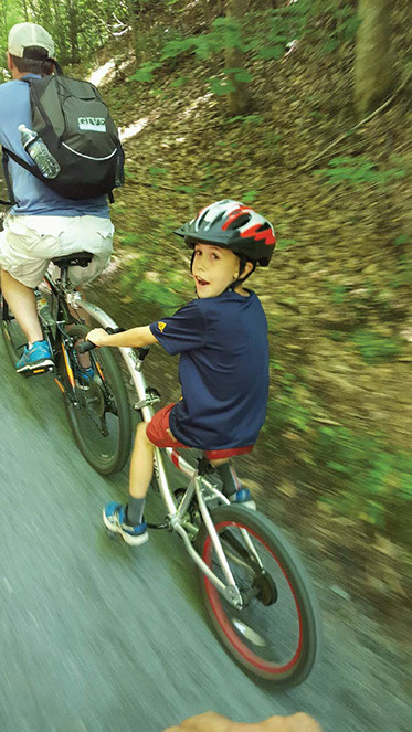 Explore the Virginia Creeper Trail Bike Trail with rented bikes for adults and kids.